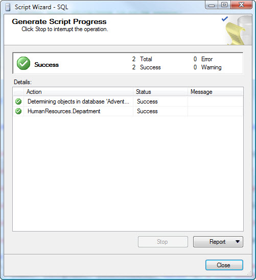 SQL SERVER - 2008 - Copy Database With Data - Generate T-SQL For Inserting Data From One Table to Another Table data9