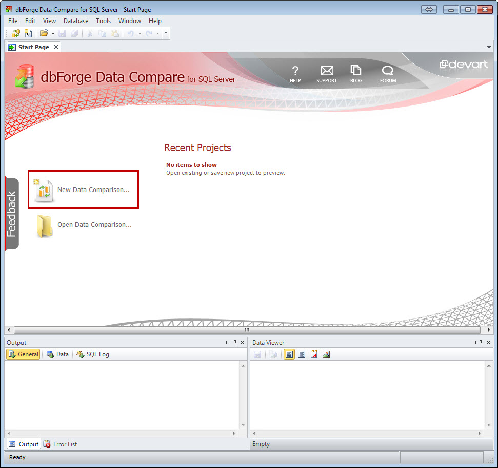 SQL SERVER - An Efficiency Tool to Compare and Synchronize SQL Server Databases datacomp1