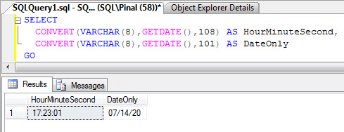 SQL SERVER - Get Time in Hour:Minute Format from a Datetime - Get Date Part Only from Datetime datetime2005