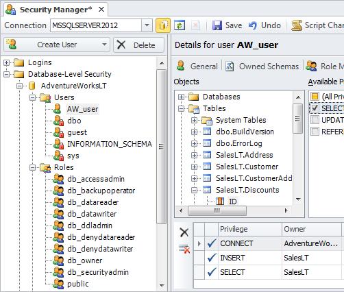 SQL SERVER - Development Productivity Tool - dbForge Studio for SQL Server security-manager