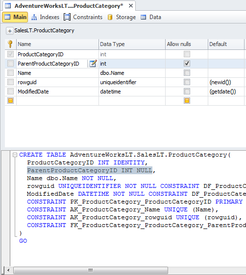 SQL SERVER - Development Productivity Tool - dbForge Studio for SQL Server table-designer