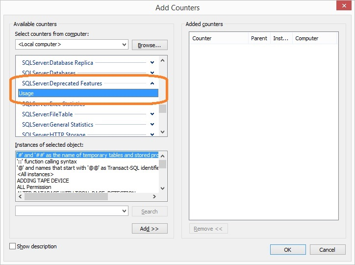 SQL Server - Knowing the Use of Deprecated or Discontinued Features deprecated-discontinuted-01
