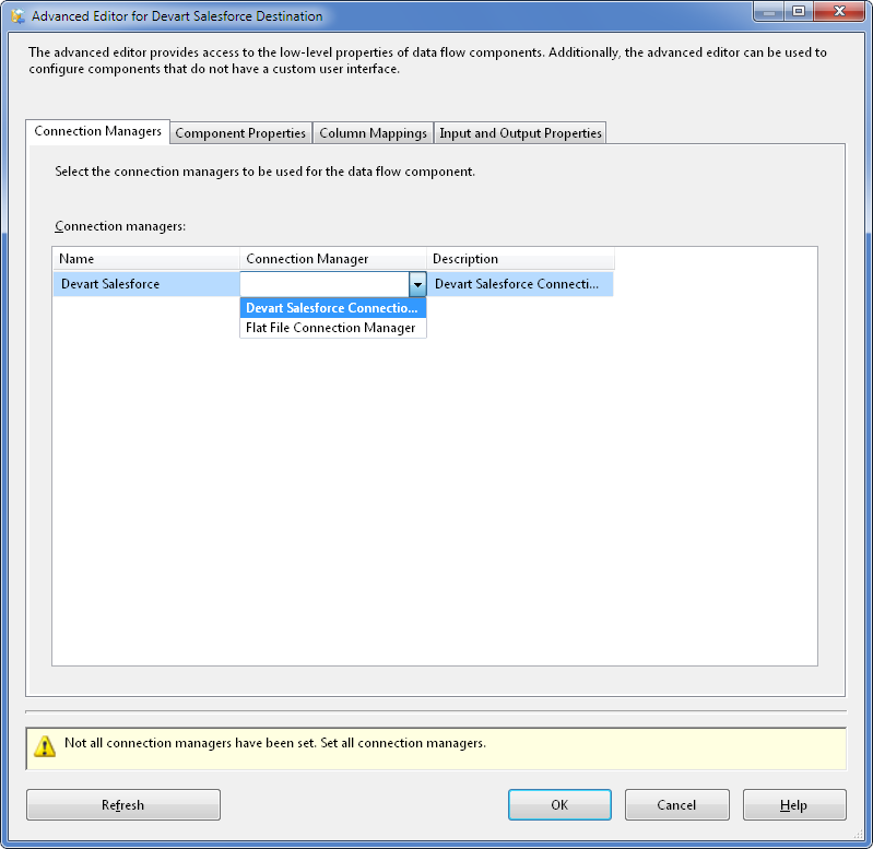 SQL SERVER - Using SSIS to Import CSV File into Salesforce Online Database with dotConnect for Salesforce from Devart 11