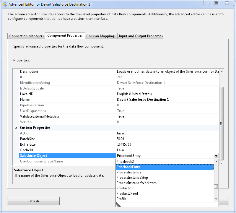 SQL SERVER - Using SSIS to Import CSV File into Salesforce Online Database with dotConnect for Salesforce from Devart 25