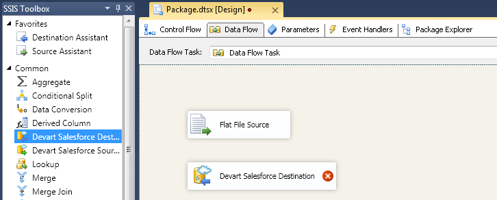SQL SERVER - Using SSIS to Import CSV File into Salesforce Online Database with dotConnect for Salesforce from Devart 7