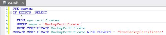 SQL SERVER - A Practical Use of Backup Encryption devbackup1