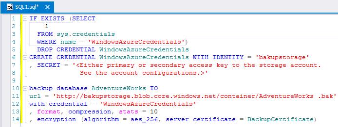 SQL SERVER - A Practical Use of Backup Encryption devbackup5