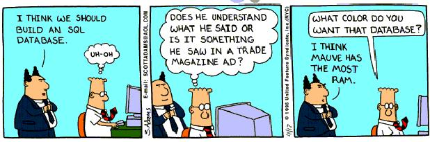 SQLAuthority News - SQL Joke, SQL Humor, SQL Laugh - Database Dilbert dilbert5