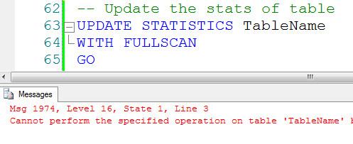 SQL SERVER - Disabled Index and Update Statistics disclu3