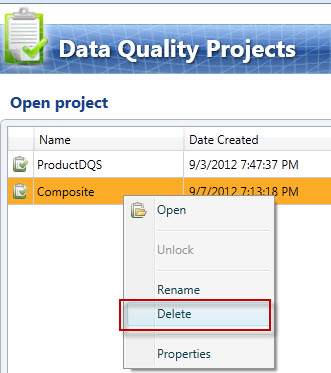 SQL SERVER - Unable to DELETE Project in Data Quality Projects (DQS)  dqs-delete1