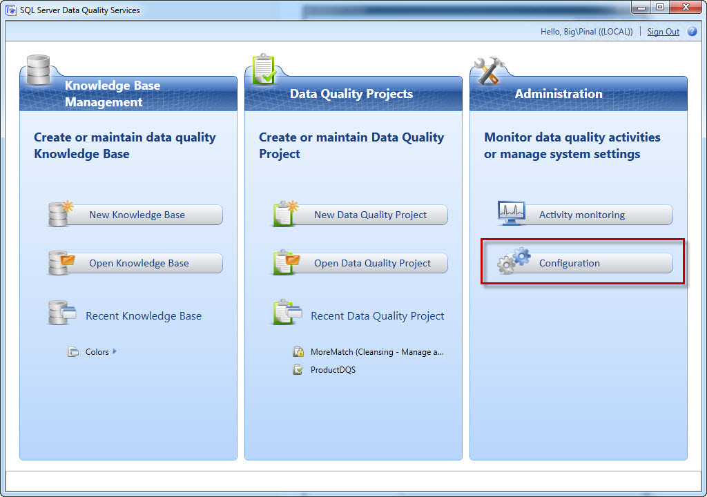 SQL SERVER - Configuring Interactive Cleansing Suggestion Min Score for Suggestions in Data Quality Services (DQS) - Sensitivity of Suggestion  dqs-1