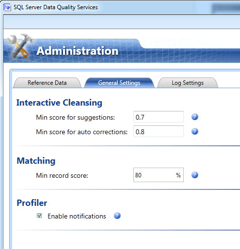 SQL SERVER - Configuring Interactive Cleansing Suggestion Min Score for Suggestions in Data Quality Services (DQS) - Sensitivity of Suggestion  dqs-2