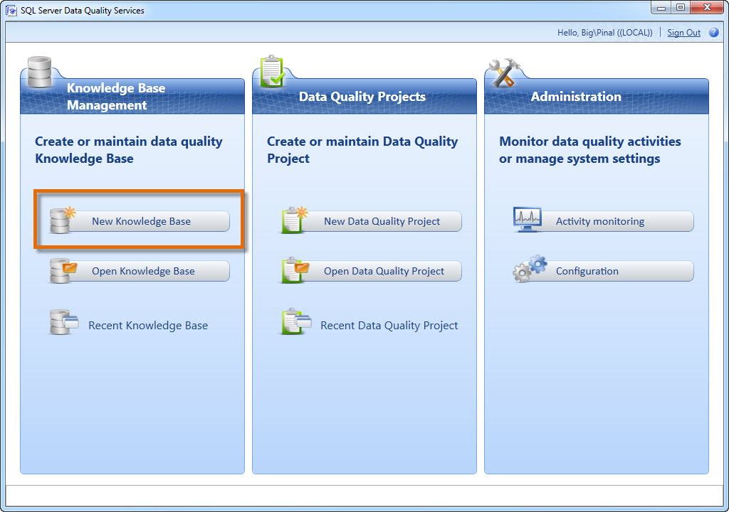 SQL SERVER - Step by Step Guide to Beginning Data Quality Services in SQL Server 2012 - Introduction to DQS dqs1