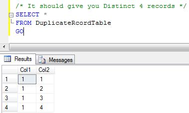 SQL SERVER - Delete Duplicate Rows dup2