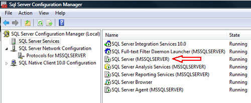 SQL SERVER - FIX : ERROR : (provider: Named Pipes Provider, error: 40 - Could not open a connection to SQL Server) (Microsoft SQL Server, Error: ) e40_7