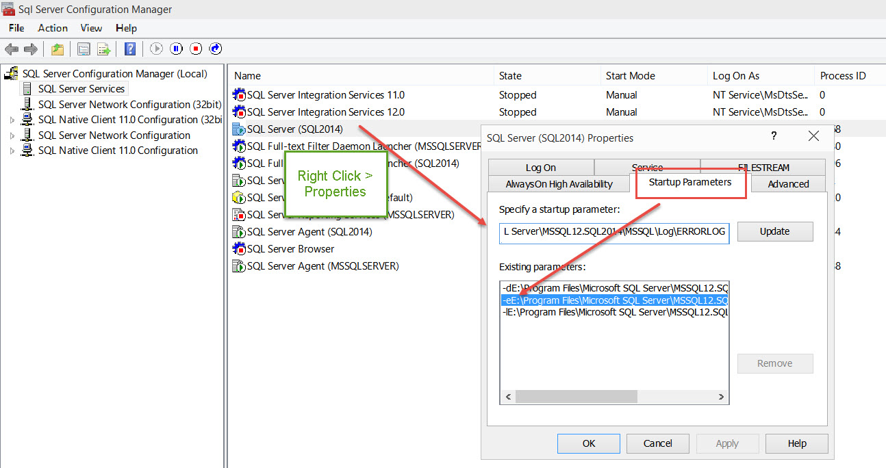 SQL SERVER - Where is ERRORLOG? Various Ways to Find ERRORLOG Location errorlog-02