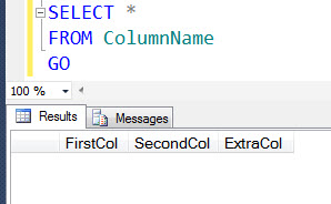 SQL SERVER - How to Add Column at Specific Location in Table extracol2