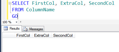 SQL SERVER - How to Add Column at Specific Location in Table extracol3