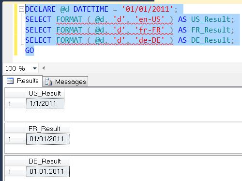 SQL SERVER - Denali - String Function - FORMAT() - A Quick Introduction format1
