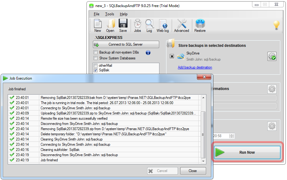 SQL SERVER -  Backup SQL databases to Box or SkyDrive ftpbackup-box (5)