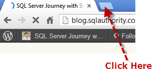 SQLAuthority News - Chrome Browser - Personal Technology gpin3