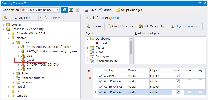 SQL SERVER - Beginning with SQL Server Security Aspects guest-user