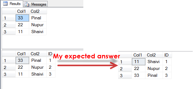 SQL SERVER - Add Identity Column to Table Based on Order of Another Column identity-order