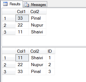 SQL SERVER - Add Identity Column to Table Based on Order of Another Column identity-order1