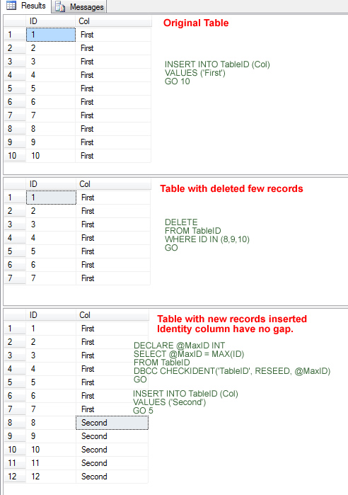 SQL SERVER - Reseed Identity of Table - Table Missing Identity Values - Gap in Identity Column identitymiss1