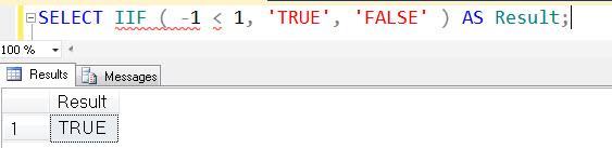 SQL SERVER - Denali - Logical Function - IIF() - A Quick Introduction iif1
