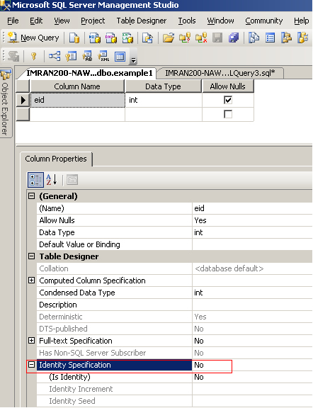 Sql server add or remove identity property on column - Sql server alter table modify column ...