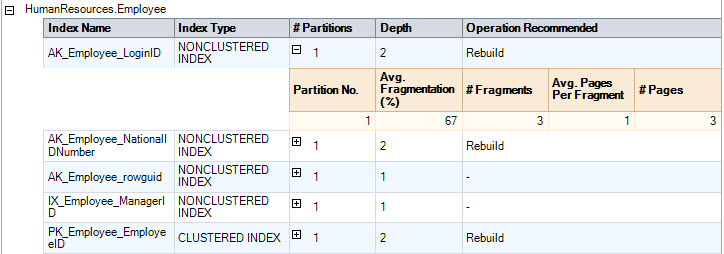 SQL SERVER - Generate Report for Index Physical Statistics - SSMS indexphys4