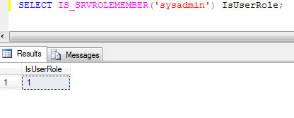 SQL SERVER - Check if Current Login is Part of Server Role Member isrole