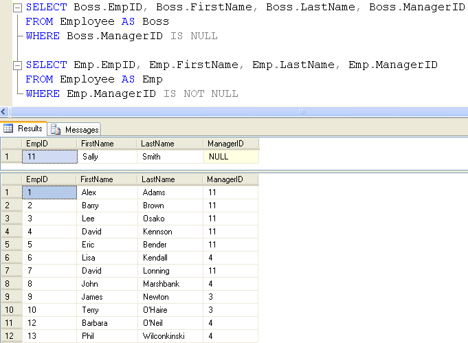 SQL SERVER - Introduction to Hierarchical Query using a Recursive
