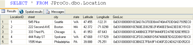 SQL SERVER - Geography Data Type - Calculating Distance Between Two Points on the Earth - Day 18 of 35 J2P_18_6