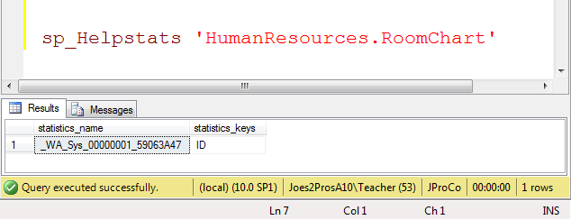 SQL SERVER - Tips from the SQL Joes 2 Pros Development Series - All about SQL Statistics - Day 21 of 35 j2p_21_3