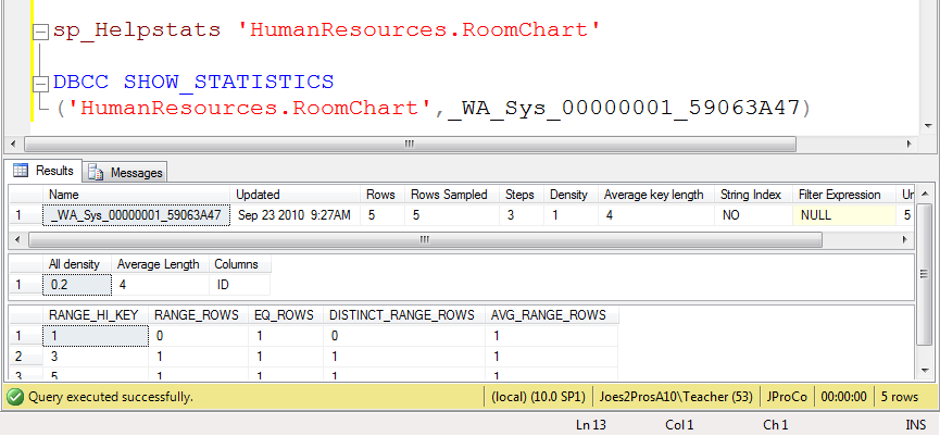 SQL SERVER - Tips from the SQL Joes 2 Pros Development Series - All about SQL Statistics - Day 21 of 35 j2p_21_5