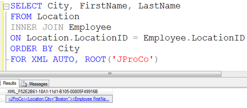 SQL SERVER - Tips from the SQL Joes 2 Pros Development Series - Using Root With Auto XML Mode - Day 31 of 35 j2p_31_6
