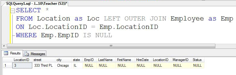 SQL SERVER - Tips from the SQL Joes 2 Pros Development Series - Finding un-matching Records - Day 5 of 35 j2p_5_3