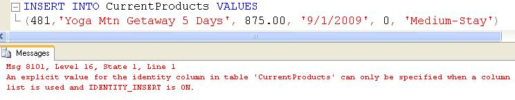 SQL SERVER - Tips from the Development Series - Overriding Identity Fields - Day 9 of 35 j2p_9_3