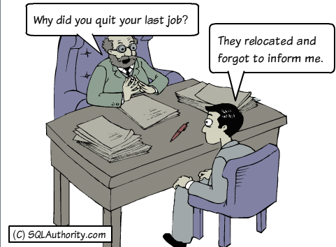 SQL SERVER - Weekly Series - Memory Lane - #024 jobinterview