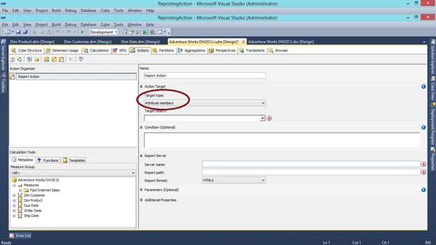 SQL SERVER - What are Actions in SSAS and How to Make a Reporting Action kssas-2