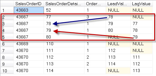 SQL SERVER - Introduction to LEAD and LAG - Analytic Functions Introduced in SQL Server 2012 leadlag4