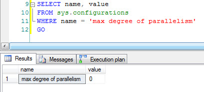 SQL SERVER - Parallelism Query in Database maxdopcheck