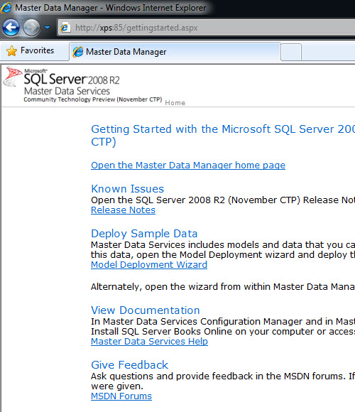 SQL SERVER - Simple Installation of Master Data Services (MDS) and Sample Packages - Very Easy MDS18