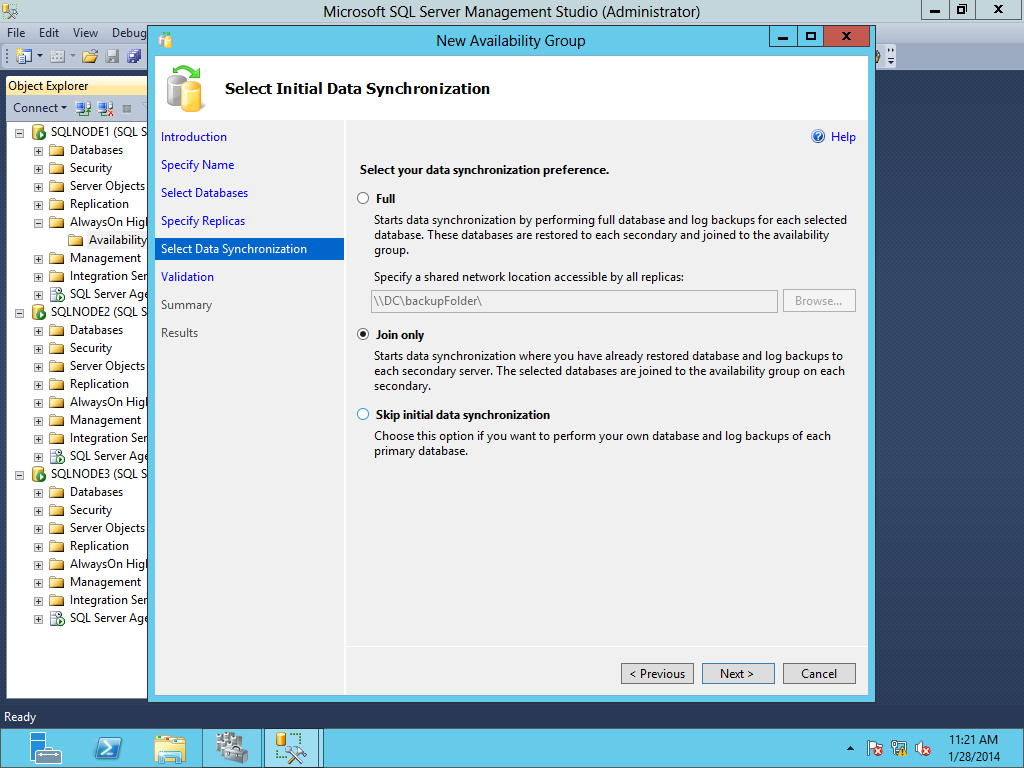 SQL SERVER - Migration of SQL Server 2012 Database Mirroring to AlwaysOn Availability Group image013