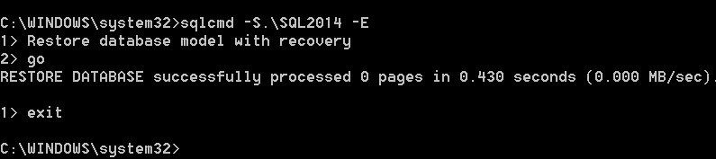 SQL SERVER - FIX - The database 'model' is marked RESTORING and is in a state that does not allow recovery to be run model-restoring-03