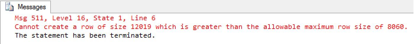 SQL SERVER - Error Msg 511 using SQL Server Sparse columns msg511-sparse-01