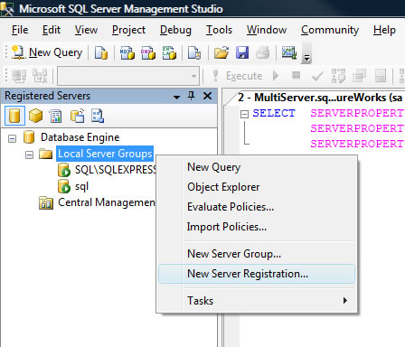 SQL SERVER - 2008 - SSMS Feature - Multi-server Queries multis