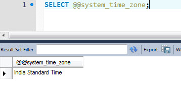 MySQL - How to Detect Current Time Zone Name in MySQL timezone
